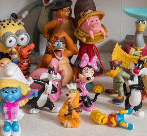 Sandtray symbols cartoon characters